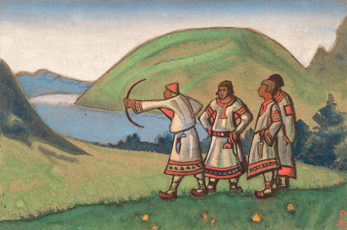 "Nicholas Roerich. Boys. Sketch for the ballet ""Spring sacred"" by I. Stravinsky"