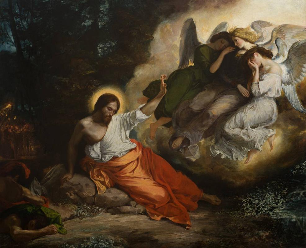 Эжен Делакруа. Христос в Гефсиманском саду