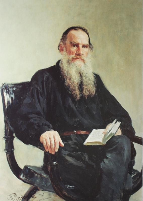 Ilya Efimovich Repin. Portrait of L. N. Tolstoy. State Tretyakov Gallery.
