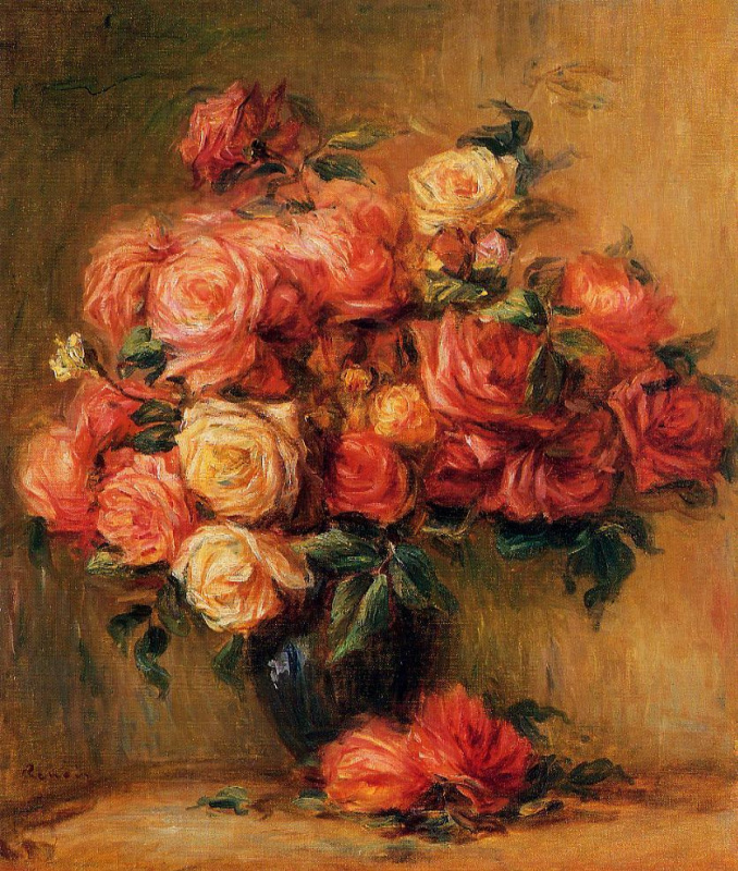 Pierre-Auguste Renoir. A bouquet of roses