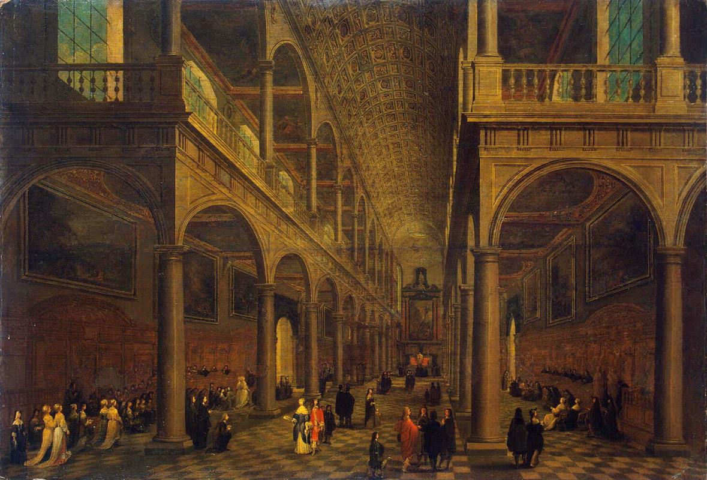 Питер Младший Франкен, Франс III Неффс. Интерьер церкви Святого Карла Борромея в Антверпене