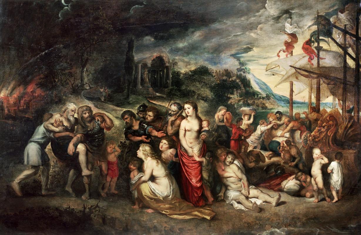 Питер Пауль Рубенс. Эней и троянцы перед дорогой в изгнание
