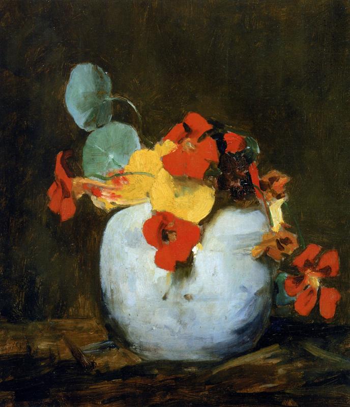 Флорис Арнцениус. Цветы в белом горшке