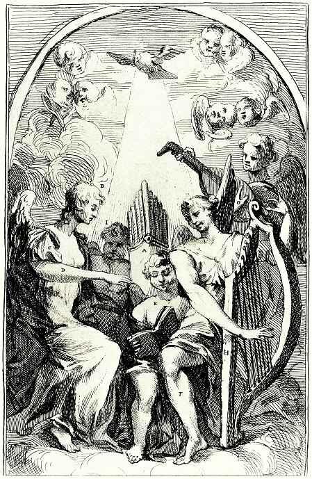 William Hogarth. A parody of the altarpiece of William Kent