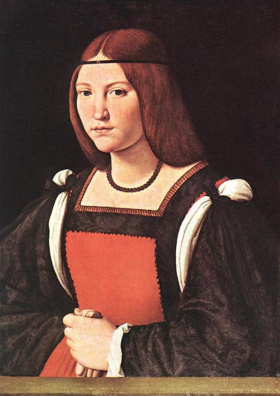 Джованни Антонио Болтраффио. Портрет молодой женщины
