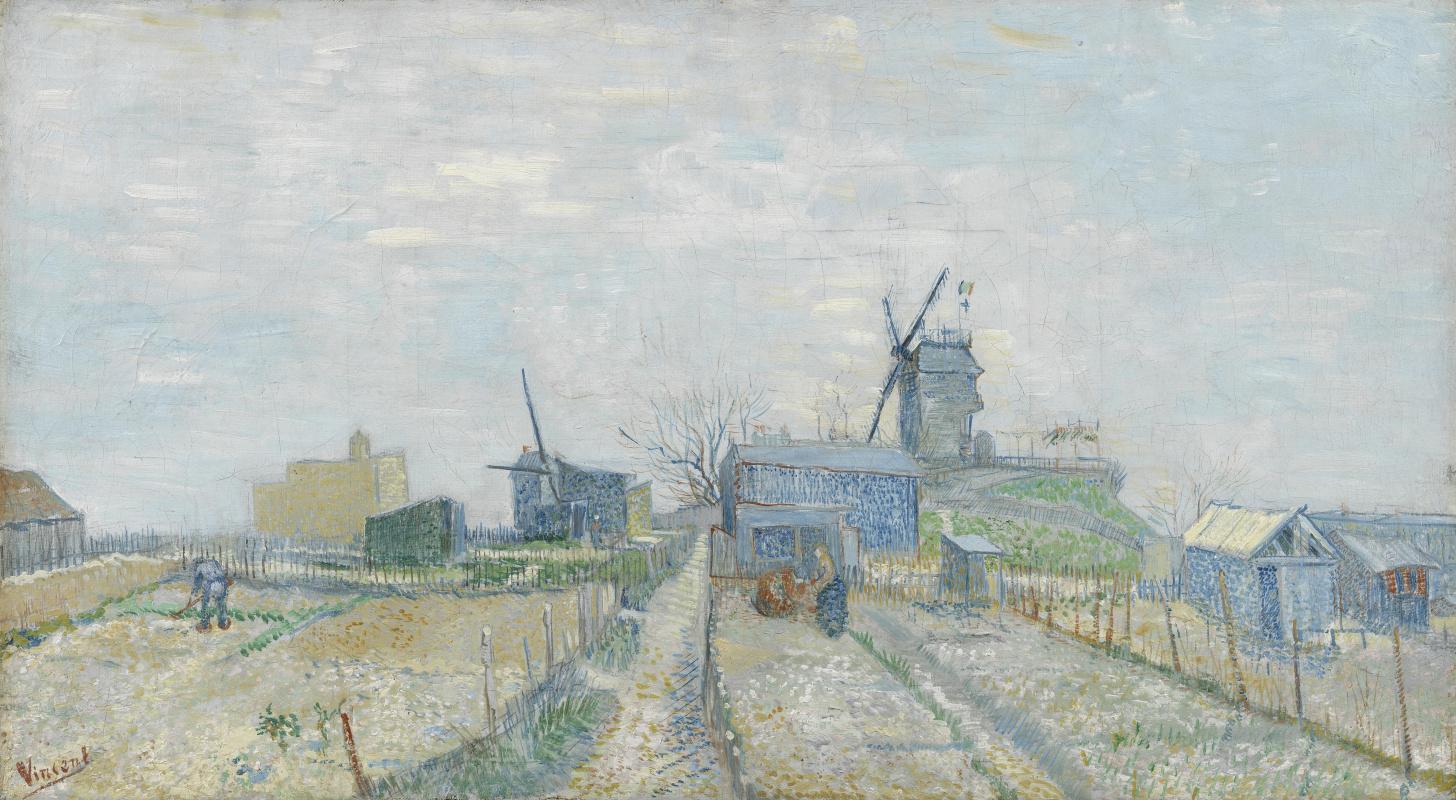Vincent van Gogh. Vegetable gardens in Montmartre