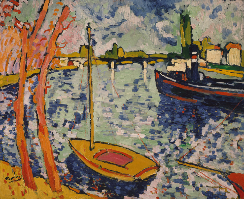 Maurice de Vlaminck. The Seine river in Chatou