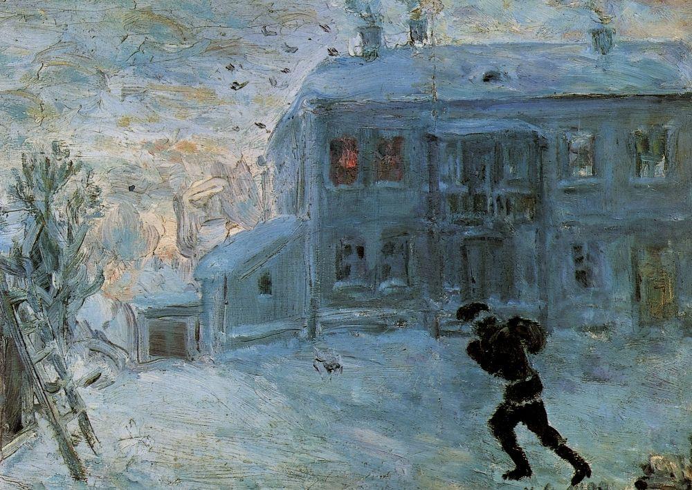 Михаил Федорович Ларионов. Пейзаж под снегом