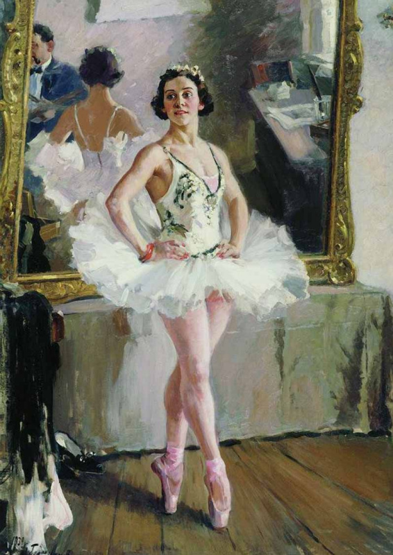 Alexander Mikhailovich Gerasimov. Portrait of the ballet dancer Olga Lepeshinskaya