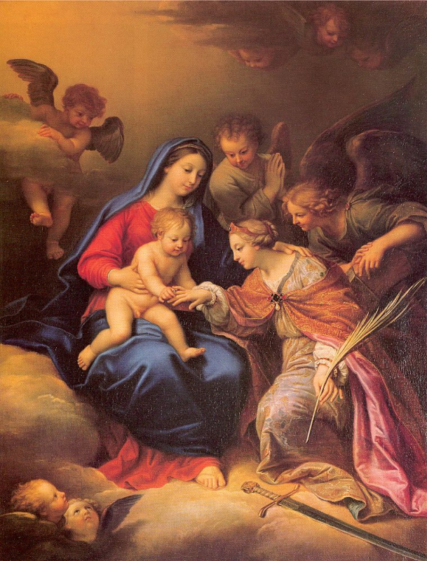 Миньяр. Богородица с младенцем