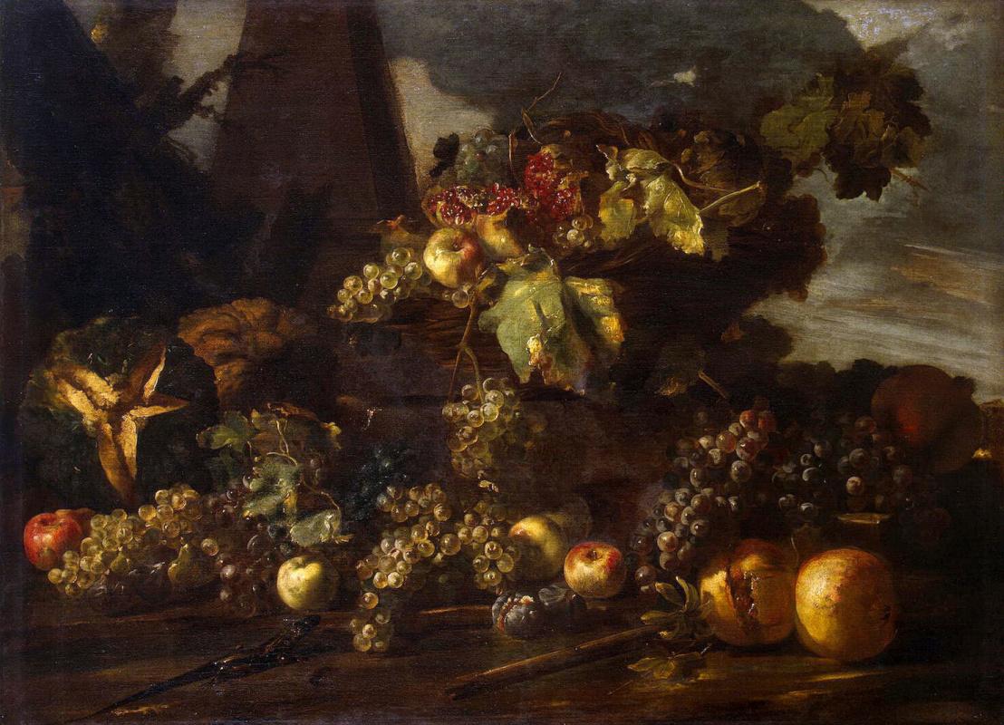 Микеле Паче. Натюрморт с виноградом