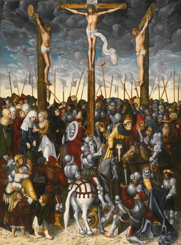 Lucas Cranach the Younger. Распятие.  д. м.120.8 х 90.5
