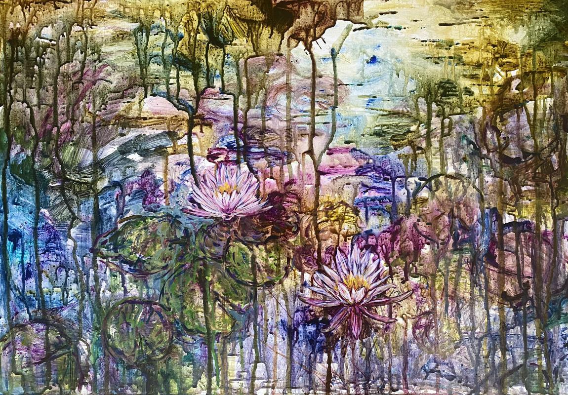"Анна Сергеевна Касс. «Pink water lilies"""
