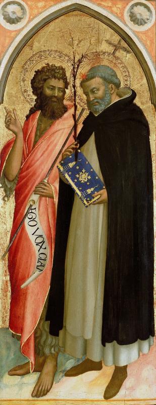 Фра Беато Анджелико. Иоанн Креститель и Святой Доминик