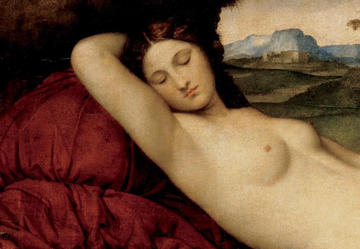 Giorgione. Sleeping Venus. Fragment