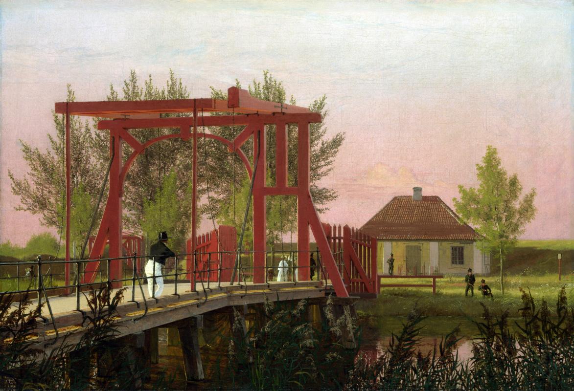 Кристен Кобк. Северный разводной мост в крепость в Копенгагене