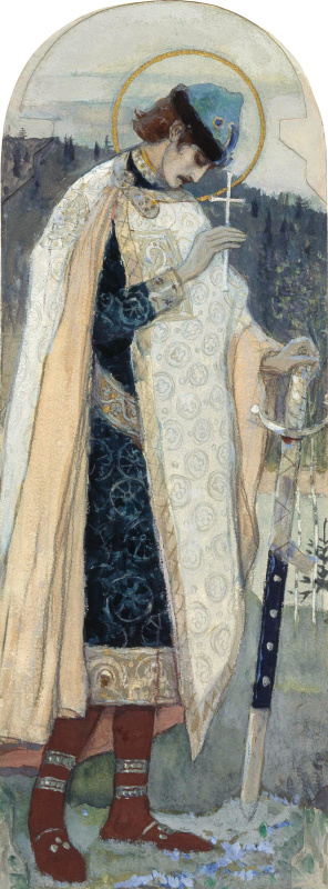 Mikhail Vasilyevich Nesterov. Holy Prince Boris. The sketch for the painting of the Vladimir Cathedral in Kiev