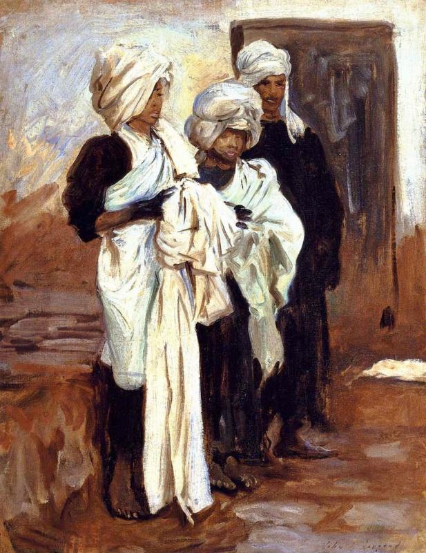 John Singer Sargent. The Egyptian dyers of Indigo