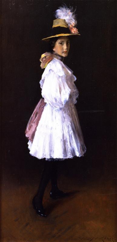 William Merritt Chase. Daughter Alice on Sunday