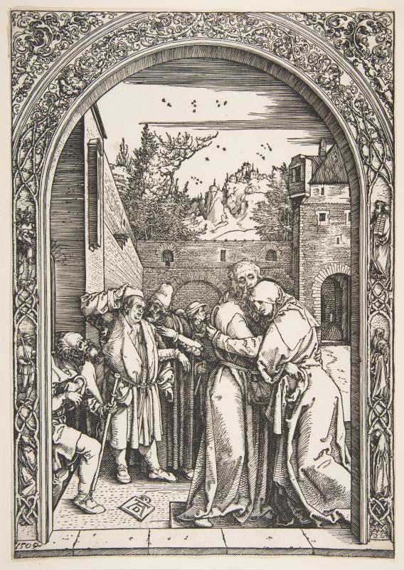 Albrecht Dürer. Saints Joachim and Anne at the Golden Gate