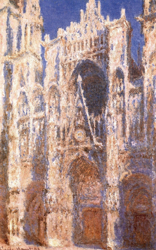 Claude Monet. Rouen Cathedral, the main entrance in the sun