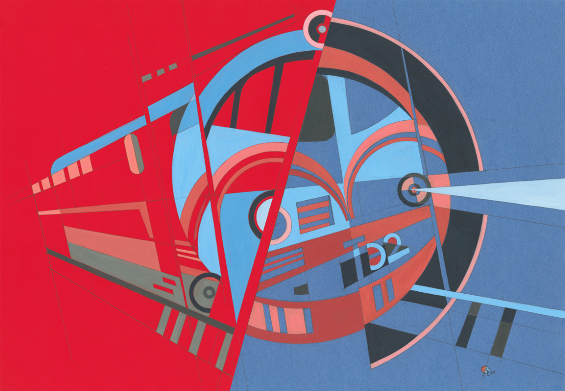 Alex Goncharenko. Diesel-electric locomotive TE2, Era of Locomotives Series