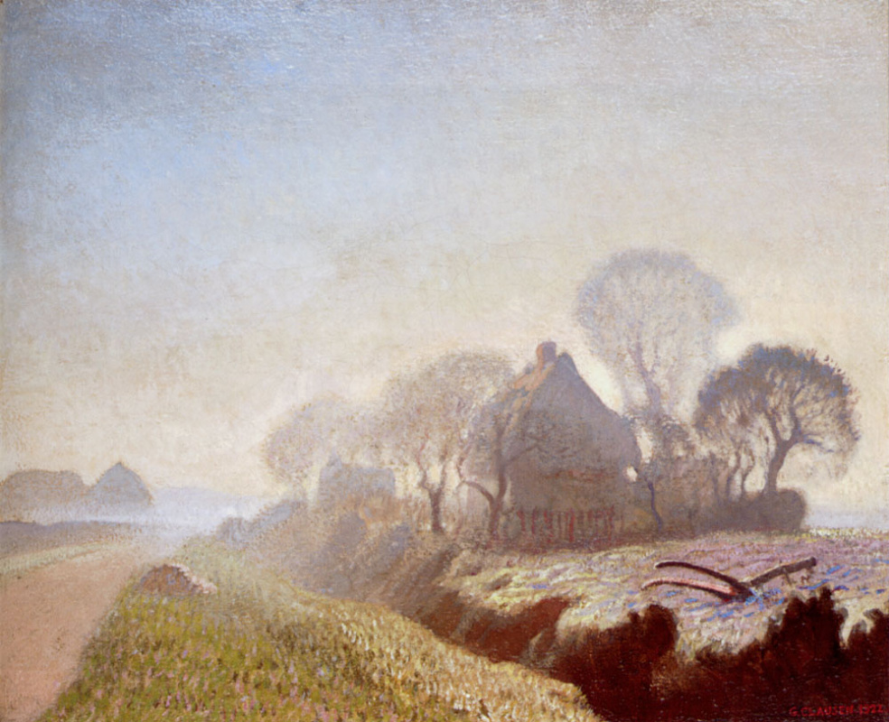 George Clausen. Morning in November