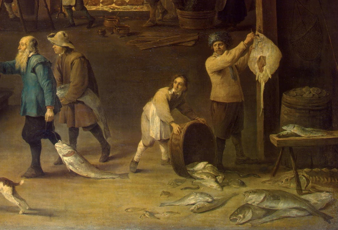 David Teniers the Younger. Kitchen. Fragment: Allegory of Water