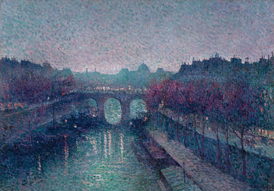 Maximilian Luce. View of the Pont Neuf and the Seine