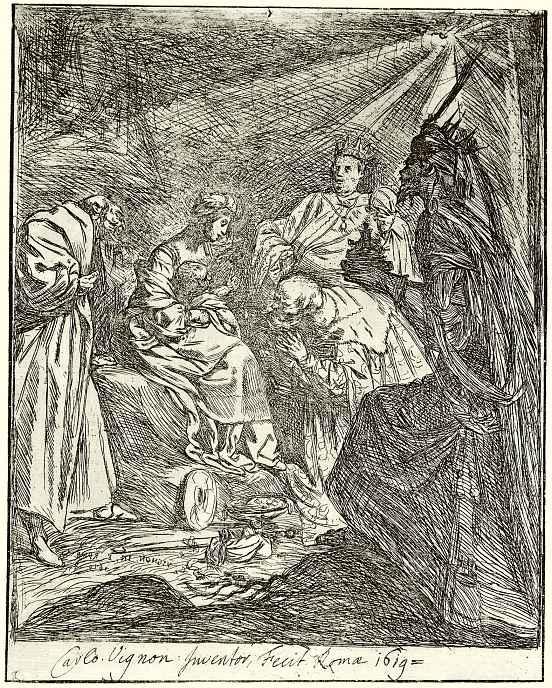 Клод Виньон. Поклонение волхвов