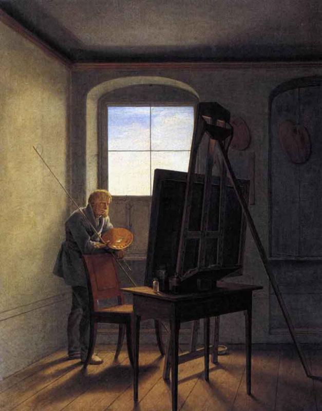 Георг Фридрих Керстинг. В студии