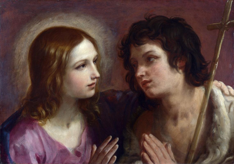 Гвидо Рени. Христос обнимающий святого Иоанна Крестителя