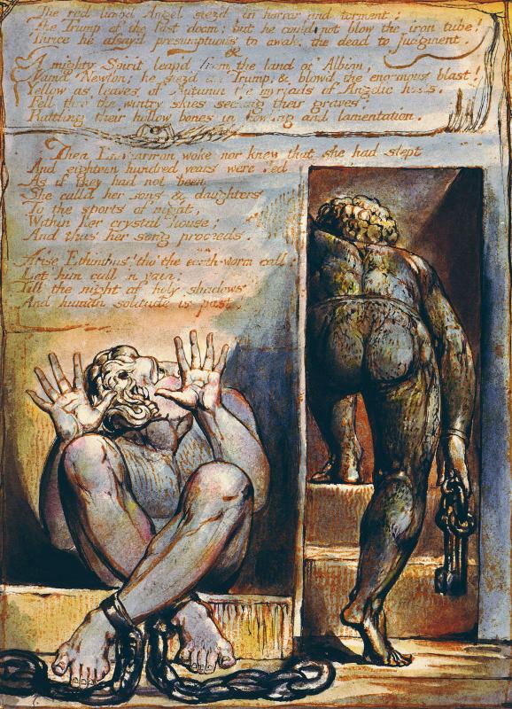 """Уильям Блейк. Тюрьма. Иллюстрация к поэме """"Европа: пророчество"""""""
