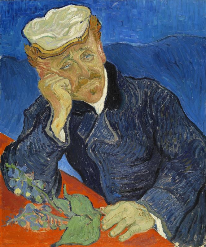 Vincent van Gogh. Portrait of doctor Gachet (option)