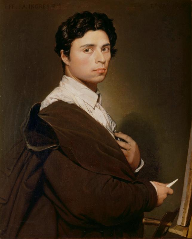 Jean Auguste Dominique Ingres. Self-portrait