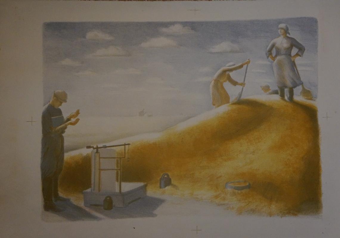 Alexandra Antonovna Gladun. Harvest