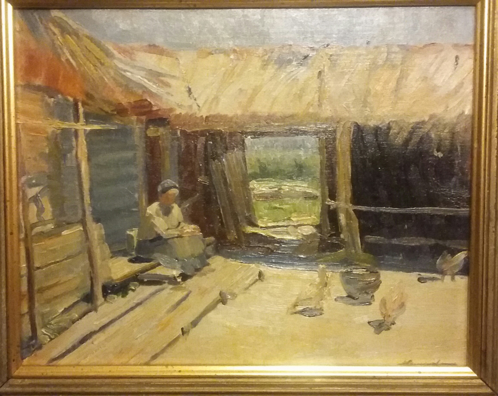 Sergeev. Country yard