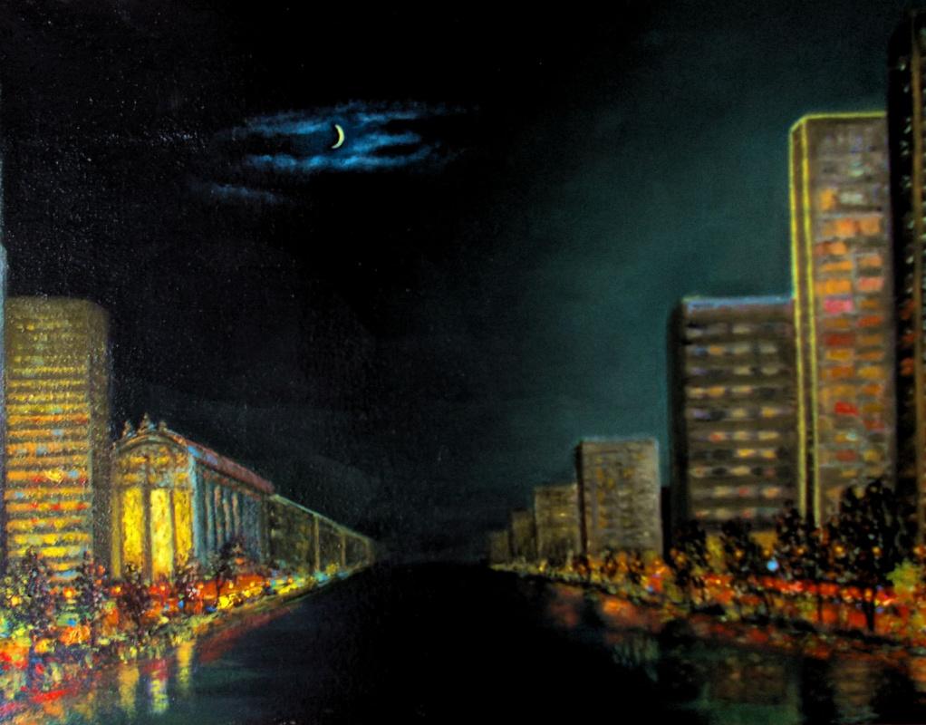 Vladimir Vasilyevich Abaimov. The night avenue