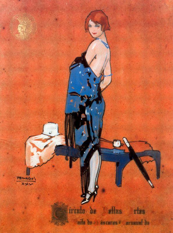 Рафаэль де Пенагос. Загадочная девушка в синем