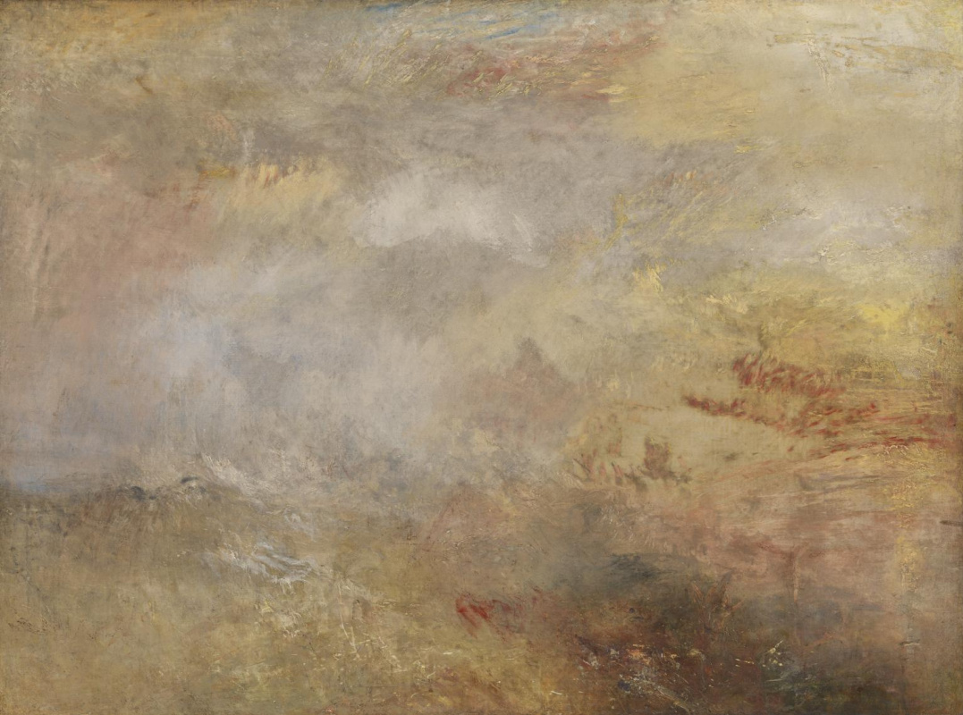 Joseph Mallord William Turner. Stormy sea with dolphins