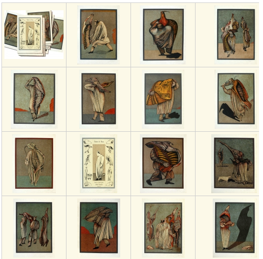"""Michael Shemyakin. """"Belly of Paris"""" - set of 15 lithographs in a special folder"""