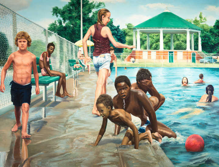 Edith Neff. Pool in the hunting park
