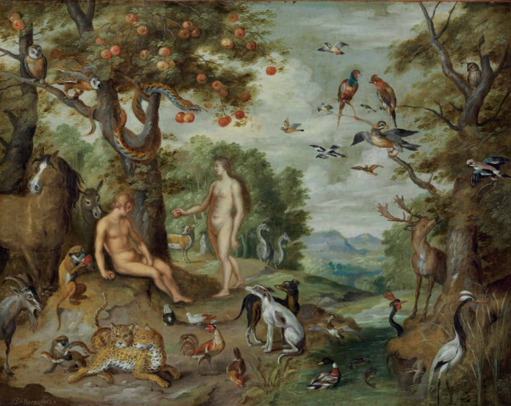 Jan Brueghel the Younger. The Story of Adam and Eve: The Temptation of Adam