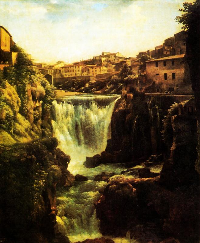 Сильвестр Феодосиевич Щедрин. Водопад в Тиволи близ Рима