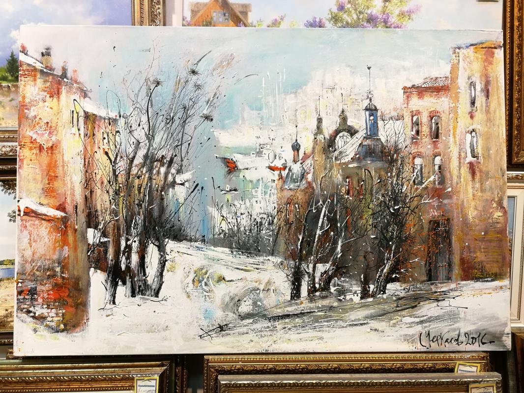 Sergey Mikhailovich Cherkasov. Winter landscape with a view of Vladivostok