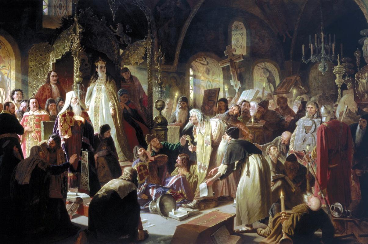 Василий Григорьевич Перов. Спор о вере