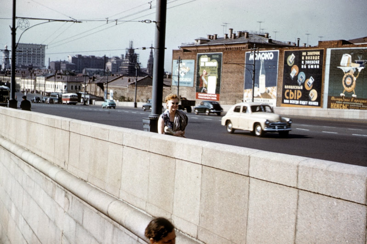 Historical photos. Advertising in Moscow in 1958