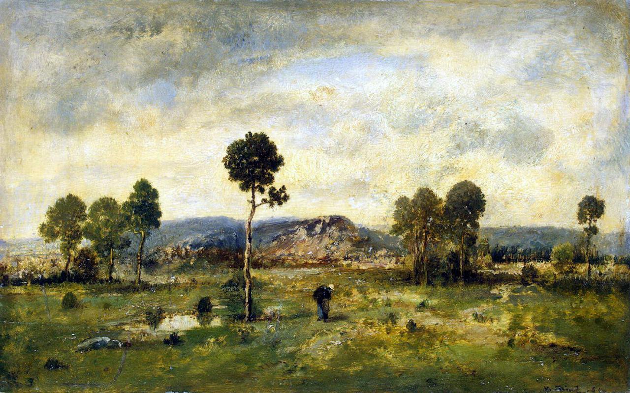 Нарсис Виржилио Диас де ла Пёнья. Пейзаж с сосной