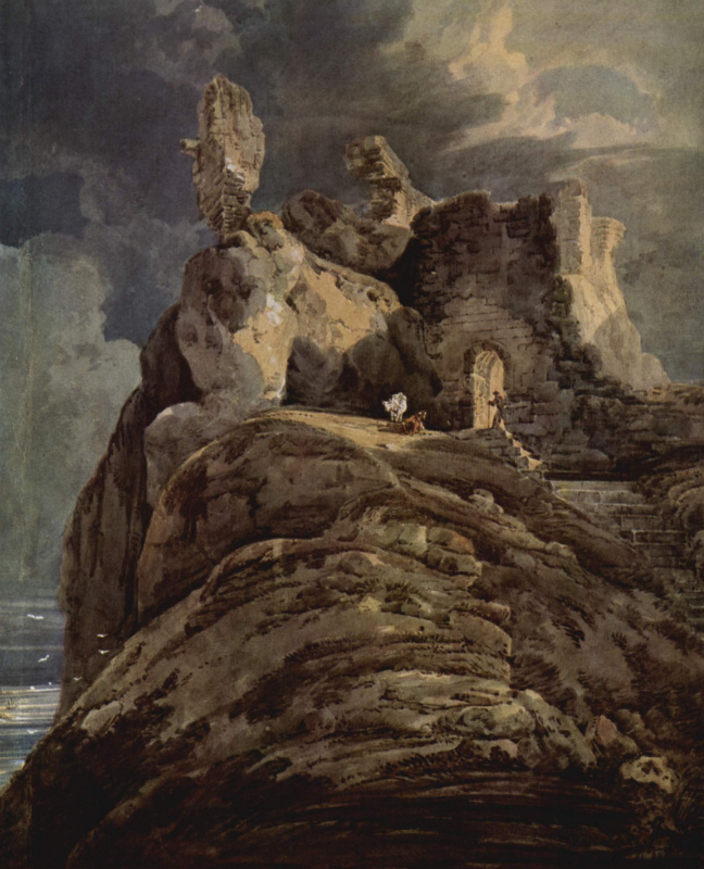 Томас Гиртин. Замок Бамберг в Нортумберленде