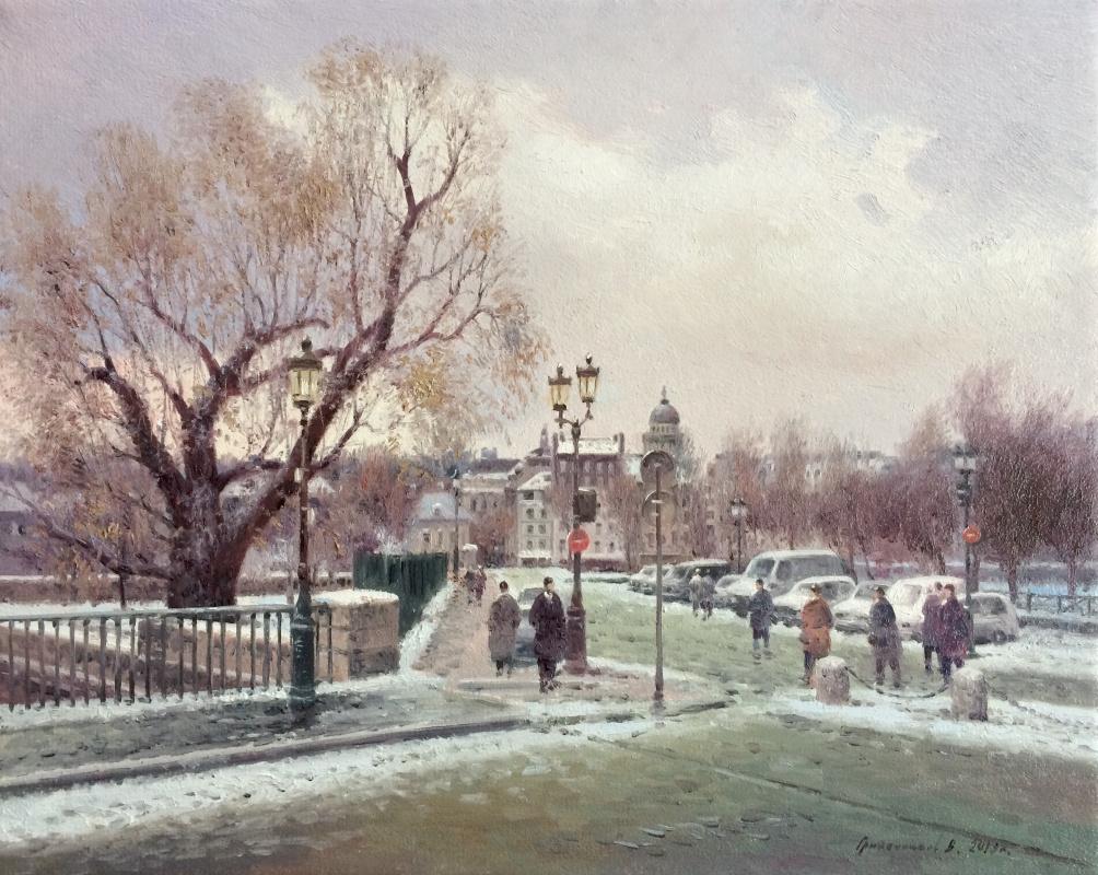 Vasily Ivanovich Gribennikov. Winter. Paris